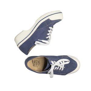 Dansko Veda Vegan Blue Canvas Lace UpSneakers